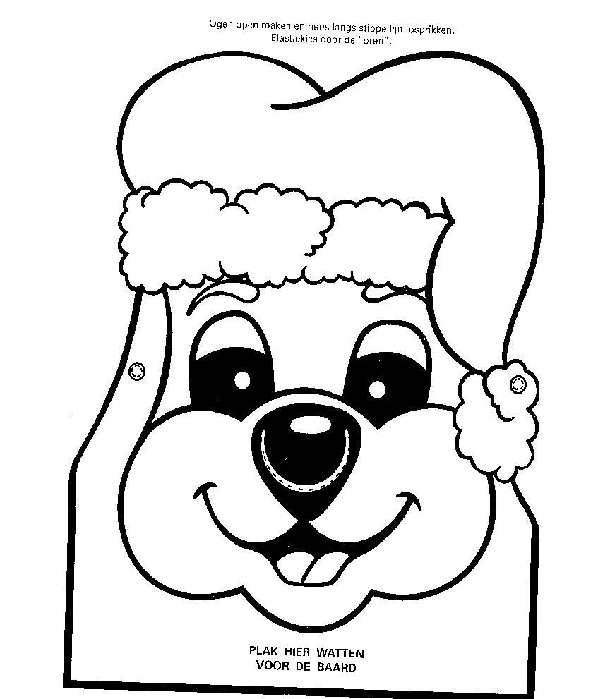 Kleurplaat Figuurzaag Kerstboomversieringen