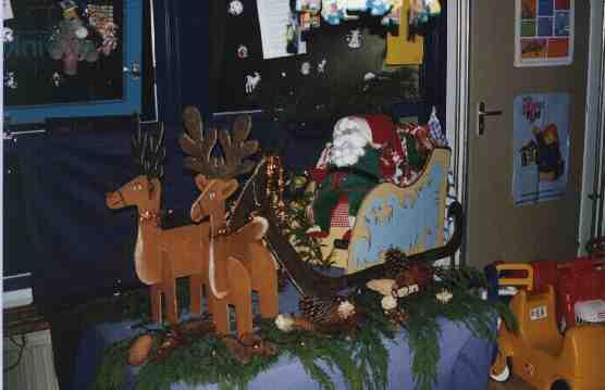 Thematafel Kerst op de peuterspeelzaal